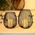 Kerzenständer Schwarz-Matt Metall Kerzenhalter 2er Kerzenleuchter Windlicht und Lampenschirm Skandinavische Tischdeko für Haus Zimmer Dekor für Geburtstag Weihnachten Hochzeit Kamin Dekoration - 3