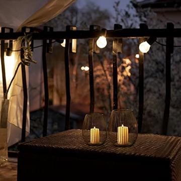 Kerzenständer Schwarz-Matt Metall Kerzenhalter 2er Kerzenleuchter Windlicht und Lampenschirm Skandinavische Tischdeko für Haus Zimmer Dekor für Geburtstag Weihnachten Hochzeit Kamin Dekoration - 7