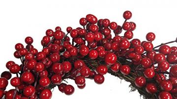 khevga Tür-Kranz Winter Weihnachten Rote Beeren (1, 40) - 2