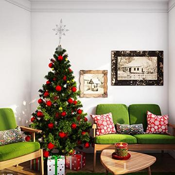 Kinin Weihnachtsbaum Stern - Christbaumspitze Stern Verzierung, Glitzende Christbaumspitze Weihnachtsbaumdeko, Weihnachtsbaumspitze Fünfzackiger Stern Christbaumschmuck - 3