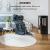 Klarstein Bormio Panorama Elektrokamin - 1000/2000 W Kamin elektrisch, Elektro Kamin mit 3-teiligem Panorama-Sichtfenster, Thermostat, zuschaltbare Heizung, Überhitzungsschutz, pechschwarz - 2