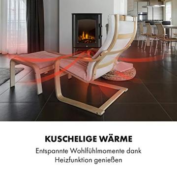 Klarstein Bormio Panorama Elektrokamin - 1000/2000 W Kamin elektrisch, Elektro Kamin mit 3-teiligem Panorama-Sichtfenster, Thermostat, zuschaltbare Heizung, Überhitzungsschutz, pechschwarz - 8