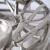 Kobolo Deko-Kranz Adventskranz groß - Metall - Silber - für 4 Kerzen - D40 cm - 4