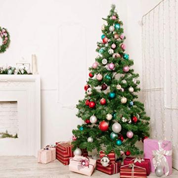 KOHMUI Christbaumschmuck Holz Set, Weihnachtsdeko Anhänger, Weihnachtsdekoration Baumschmuck zum Hängen, 24 Christbaum Hirschkopf Rentier Stern Weihnachtssnhänger mit 18 Frohe Weihnachten Aufkleber - 7