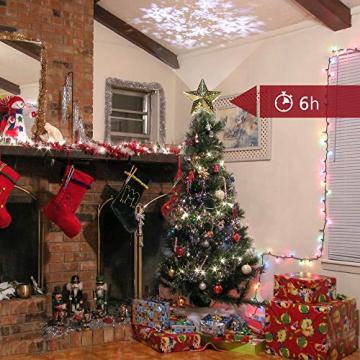 KPCB Weihnachtsbaum Stern,Christbaumspitze Stern Tannenbaum Spitze Mehrfarben LED für Feiertags-Dekorationen - 3