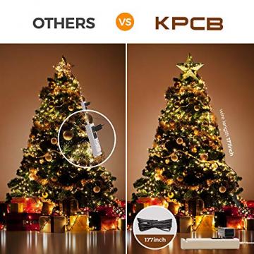 KPCB Weihnachtsbaum Stern,Christbaumspitze Stern Tannenbaum Spitze Mehrfarben LED für Feiertags-Dekorationen - 5