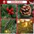 Kranz Weihnachten, Weihnachtskranz für Tür Vorbeleuchtet Künstlich Weihnachtsdeko mit 50 LEDs Licht Batteriebetrieb Schneeflocke Pinocone Red Berry(45CM/18Zoll) - 2