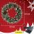 Kranz Weihnachten, Weihnachtskranz für Tür Vorbeleuchtet Künstlich Weihnachtsdeko mit 50 LEDs Licht Batteriebetrieb Schneeflocke Pinocone Red Berry(45CM/18Zoll) - 4