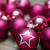 KREBS & SOHN 20er Set Glas Christbaumkugeln - Weihnachtsbaum Deko zum Aufhängen - Weihnachtskugeln 5,7 cm - Pink Sterne - 2