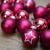 KREBS & SOHN 20er Set Glas Christbaumkugeln - Weihnachtsbaum Deko zum Aufhängen - Weihnachtskugeln 5,7 cm - Pink Sterne - 3