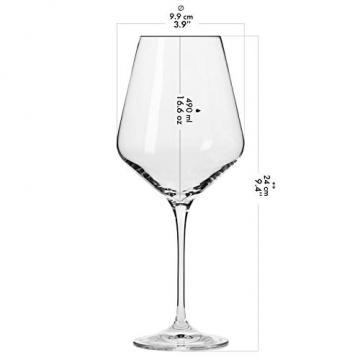 Krosno Rot-Weingläser | Set von 6 | 490 ML | Avant-Garde Kollektion | Perfekt für zu Hause, Restaurants und Partys | Spülmaschinenfest und Mikrowellengeeignet - 2
