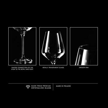 Krosno Rot-Weingläser | Set von 6 | 490 ML | Avant-Garde Kollektion | Perfekt für zu Hause, Restaurants und Partys | Spülmaschinenfest und Mikrowellengeeignet - 6
