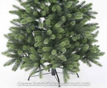 Künstlicher Tannenbaum mit Spritzguss Nadeln auf 766 Tips, LED Beleuchtung, Höhe 180cm von kunstpflanzen-discount.com - künstlicher Weihnachtsbaum - Tannenbaum künstlich - künstliche Weihnachtsbäume Christbaum - 3