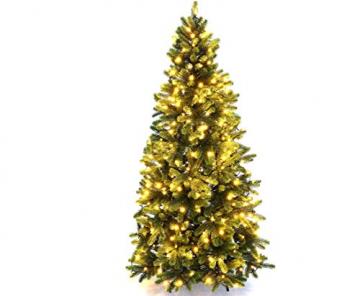 Künstlicher Tannenbaum mit Spritzguss Nadeln auf 766 Tips, LED Beleuchtung, Höhe 180cm von kunstpflanzen-discount.com - künstlicher Weihnachtsbaum - Tannenbaum künstlich - künstliche Weihnachtsbäume Christbaum - 1