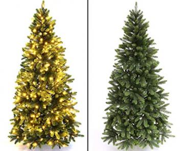 Künstlicher Tannenbaum mit Spritzguss Nadeln auf 766 Tips, LED Beleuchtung, Höhe 180cm von kunstpflanzen-discount.com - künstlicher Weihnachtsbaum - Tannenbaum künstlich - künstliche Weihnachtsbäume Christbaum - 6