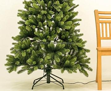 Künstlicher Tannenbaum mit Spritzguss Nadeln auf 766 Tips, LED Beleuchtung, Höhe 180cm von kunstpflanzen-discount.com - künstlicher Weihnachtsbaum - Tannenbaum künstlich - künstliche Weihnachtsbäume Christbaum - 7