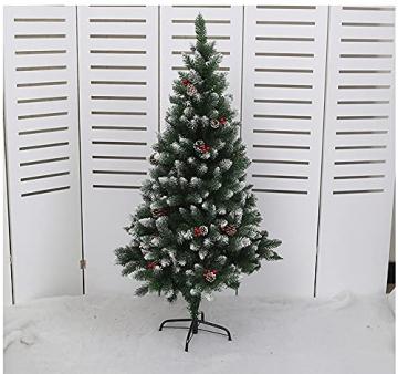 Künstlicher Weihnachtsbaum Weihnachtsdekoration Mit Roten Beeren Und Tannenzapfen-Spitzen Weihnachtsbaum Mit Beflockten Tannenzapfen Und Tannennadel, Buschige Weihnachtsbäume Mit Hoher Spitzenzahl - 2