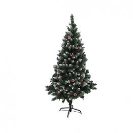 Künstlicher Weihnachtsbaum Weihnachtsdekoration Mit Roten Beeren Und Tannenzapfen-Spitzen Weihnachtsbaum Mit Beflockten Tannenzapfen Und Tannennadel, Buschige Weihnachtsbäume Mit Hoher Spitzenzahl - 1