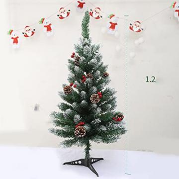 Künstlicher Weihnachtsbaum Weihnachtsdekoration Mit Roten Beeren Und Tannenzapfen-Spitzen Weihnachtsbaum Mit Beflockten Tannenzapfen Und Tannennadel, Buschige Weihnachtsbäume Mit Hoher Spitzenzahl - 4