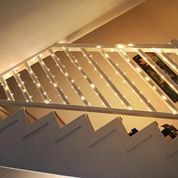 LE 10M LED Lichterkette Draht aus Kupferdraht, 100 LEDs, Wasserdicht IP65, Strombetrieben, ideal Stimmungslichter für Weihnachtsdeko Innen Außen Weihnachten Party Hochzeit usw. Warmweiß - 3