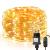 LE 10M LED Lichterkette Draht aus Kupferdraht, 100 LEDs, Wasserdicht IP65, Strombetrieben, ideal Stimmungslichter für Weihnachtsdeko Innen Außen Weihnachten Party Hochzeit usw. Warmweiß - 1