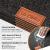 Le cielci® Tischset Filz Anthrazit   18er Set - 6 Platzsets, Glasuntersetzer, Bestecktaschen   rutschfest Abwaschbar Tischsets   Filzmatte Platzdeckchen abwischbar   Platzset für Zuhause Restaurant - 3