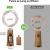 LE Flaschenlicht, 20 LEDs Weinflaschen Lichterkette, 8 Stück 2M Batteriebetrieben Flaschenlichterkette mit Kork, Kupferdraht Lichterketten für Zimmer Außen Innen Weihnachten Party Deko, Warmweiß - 2