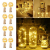 LE Flaschenlicht, 20 LEDs Weinflaschen Lichterkette, 8 Stück 2M Batteriebetrieben Flaschenlichterkette mit Kork, Kupferdraht Lichterketten für Zimmer Außen Innen Weihnachten Party Deko, Warmweiß - 1