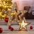 LED Deko Holz Stern im 2er Set mit 16 LED - 33,5 x 33,5 x 6 cm - Weihnachtsstern beleuchtet Tischdeko Fensterdeko - 2