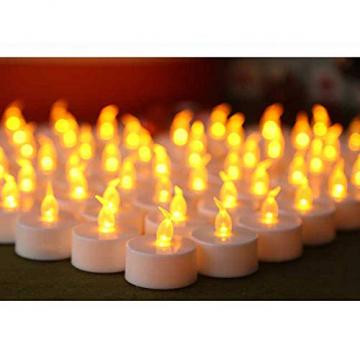 LED Kerzen, 24 Stück LED Flammenlose Tealights, Flackern Teelichter, elektrische Kerze Lichter Batterie Dekoration für Weihnachten, Weihnachtsbaum, Ostern, Hochzeit, Party - 4