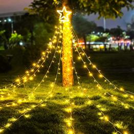 LED Lichterkette Außen WarmWeiß - HOSPAOP 320 LED Weihnachtsbeleuchtung Aussen Strom lichterketten mit 8 Leuchtmodi, Timer, Wasserdicht für Party, Garten, Baum, Weihnachten Deko - 1