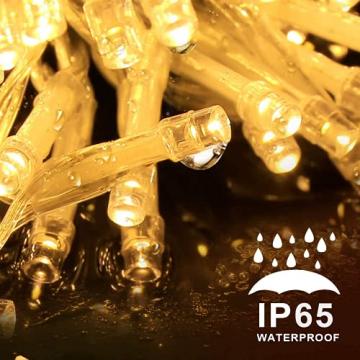 LED Lichterkette Batterie Außen, FilFom 2✖6m 50LED Micro Lichterkette Draht Innen Batteriebetrieben mit 9 Modis, IP65 Wasserdicht Weihnachtsbeleuchtung Outdoor Lichterkette für Balkon Garten Hochzeit - 5