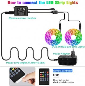 Led Strip, L8star 15m Led Streifen Farbwechsel Led Lichterkette Clever Rgb Led Bänder Stripes mit Bluetooth und fern Kontroller Sync zur Musik Led Leiste, Lichterkette bunt - 7