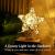 Lewondr Christbaumspitze, Glitzernder Weihnachtsbaum Topper, Rattan und Bändern Umwickelte Stern Zauberei Weihnachtsbaumspitze Weihnachten Dekoration LED Dekorativ Licht Batteriebetrieb 30cm - Silber - 2