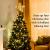 Lewondr Christbaumspitze, Glitzernder Weihnachtsbaum Topper, Rattan und Bändern Umwickelte Stern Zauberei Weihnachtsbaumspitze Weihnachten Dekoration LED Dekorativ Licht Batteriebetrieb 30cm - Silber - 4