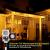 Lichterkette Eisregen außen, GreenClick 440 LED warmweiß Kaltweiß Lichtervorhang, 9נ0,8m LED Vorhang Strom, Lichterketten mit Fernbedienung wasserdicht für Balkon Weihnachten außen und innen Deko - 3