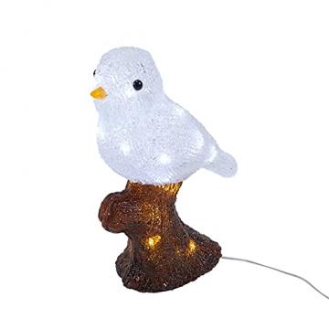 Lights4fun 20er LED Acryl Vogel Weihnachtsfigur Weihnachtsbeleuchtung Außen batteriebetrieben mit Timer - 2