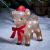 Lights4fun 30er LED Rehkitz Weihnachtsbeleuchtung Außen Weihnachtsfigur batteriebetrieben mit Timer - 1