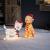 Lights4fun 50er LED Westie West Highland White Terrier Weihnachtsbeleuchtung Weihnachtsfigur Timer - 2