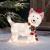 Lights4fun 50er LED Westie West Highland White Terrier Weihnachtsbeleuchtung Weihnachtsfigur Timer - 1