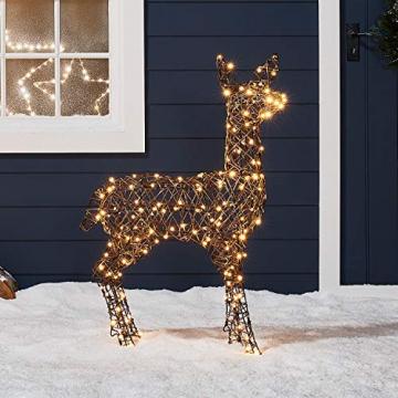 Lights4fun Rattan LED Rentier Familie Weihnachtsfiguren Außen - 6