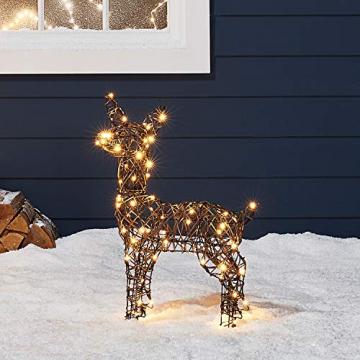 Lights4fun Rattan LED Rentier Familie Weihnachtsfiguren Außen - 7