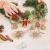 LIHAO 56 x Strohsterne Christbaumschmuck Weihnachtsbaum Stroh Weihnachten Strohanhänger Christbaum Deko Anhänger für Weihnachten Advent Sterne Herzen Engel Set Behang - 3