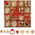 LIHAO 56 x Strohsterne Christbaumschmuck Weihnachtsbaum Stroh Weihnachten Strohanhänger Christbaum Deko Anhänger für Weihnachten Advent Sterne Herzen Engel Set Behang - 4
