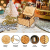 LINGSFIRE Weihnachtliche Hölzerne Spieluhr, Geschenk für Ehefrau für Familie, Freunde, Kinder, Weihnachtsdekoration, Handkurbel, Kreative Spieluhr, Weihnachtsgeschenk, Frohe Weihnachten - 3