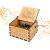LINGSFIRE Weihnachtliche Hölzerne Spieluhr, Geschenk für Ehefrau für Familie, Freunde, Kinder, Weihnachtsdekoration, Handkurbel, Kreative Spieluhr, Weihnachtsgeschenk, Frohe Weihnachten - 1