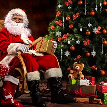 LOVEXIU Weihnachtsdeko Eiszapfen Anhänger 68 Stück,Weihnachtsbaumschmuck, Acryl Eiszapfen Deko,Schneeflocken deko acryl,Christbaumschmuck eiszapfen Schneeflocke Für Hängen Weihnachten Dekoration - 8