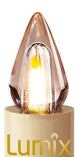 Lumix KRINNER Superlight Flame 6er Erweiterungs-Set kabellose LED Christbaumkerzen, Kunststoff, Elfenbein, 9 cm - 4