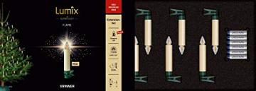 Lumix KRINNER Superlight Flame 6er Erweiterungs-Set kabellose LED Christbaumkerzen, Kunststoff, Elfenbein, 9 cm - 1