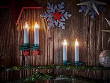 Lumix KRINNER Superlight Flame 6er Erweiterungs-Set kabellose LED Christbaumkerzen, Kunststoff, Elfenbein, 9 cm - 5